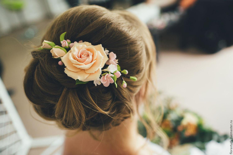 Заколки на прическу невесте фото