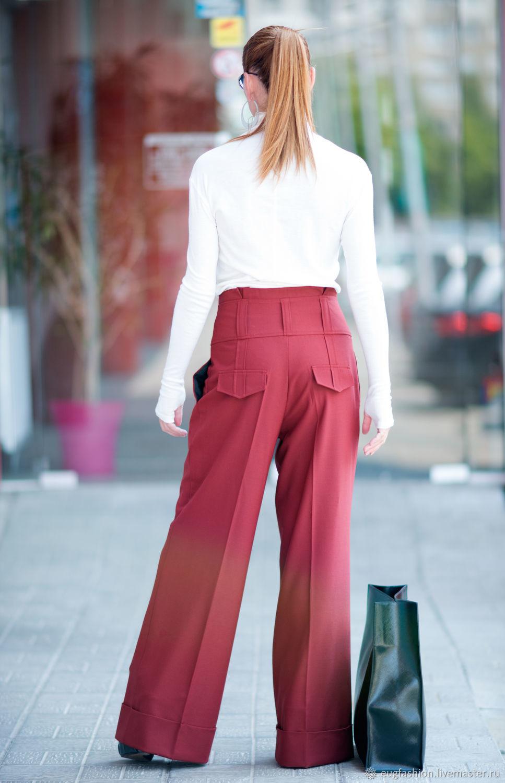 Stylish, women's pants made of Trouser fabric - PA0740CW, Pants, Sofia,  Фото №1