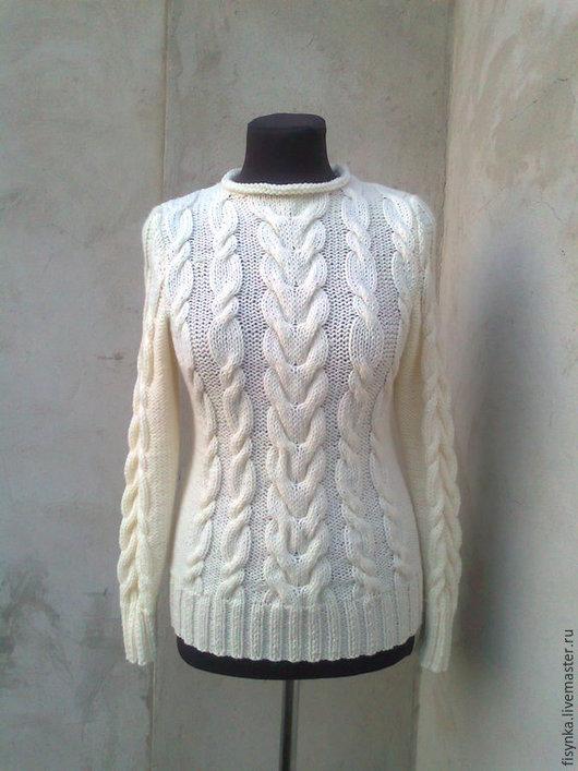 Кофты и свитера ручной работы. Ярмарка Мастеров - ручная работа. Купить свитер вязаный ручная работа. Handmade. Белый