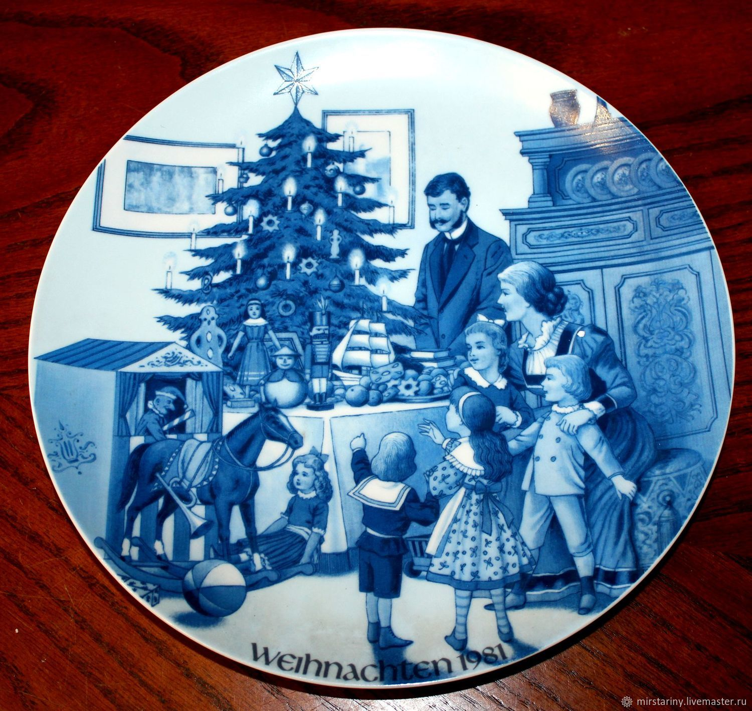 Wall plate company Jacobs 'Christmas 1981' Germany, Vintage interior, Moscow,  Фото №1