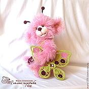 Куклы и игрушки ручной работы. Ярмарка Мастеров - ручная работа Миа, мишка-бабочка, мишка с крылышками, розовый мишка. Handmade.