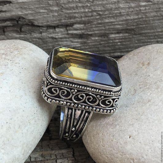 """Кольца ручной работы. Ярмарка Мастеров - ручная работа. Купить Царское кольцо (перстень) с аметрином """"Сон наяву"""". Handmade."""