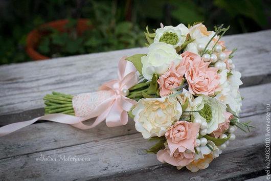 Свадебные цветы ручной работы. Ярмарка Мастеров - ручная работа. Купить Свабедный букет из фоамирана. Handmade. Комбинированный, свадебный букет