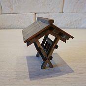 Декор для флористики ручной работы. Ярмарка Мастеров - ручная работа Кормушка для животных миниатюра. Handmade.