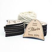 Этикетки ручной работы. Ярмарка Мастеров - ручная работа Бирка с логотипом / ценник. Handmade.