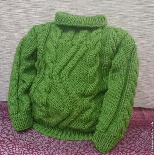 Одежда унисекс ручной работы. Ярмарка Мастеров - ручная работа. Купить Свитер детский. Handmade. Зеленый, свитер с горлом