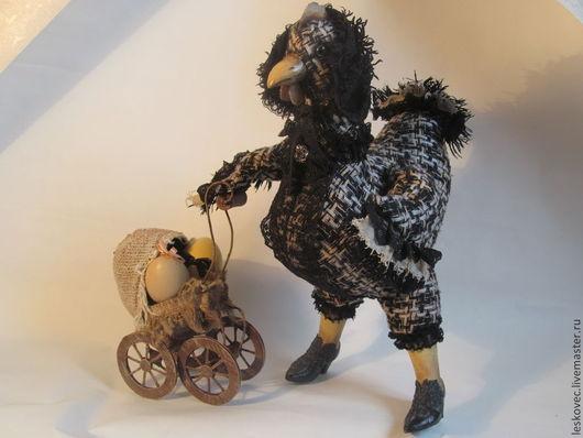 """Коллекционные куклы ручной работы. Ярмарка Мастеров - ручная работа. Купить """"Курямачка"""". Handmade. Курочка, курица, папье-маше"""
