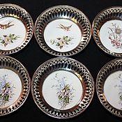 Винтаж handmade. Livemaster - original item Set of six antique rosettes by Max Dannhorn, Herm. Handmade.