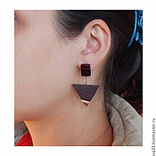 Украшения handmade. Livemaster - original item Triangular earrings.. Handmade.