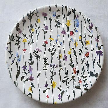 """Посуда ручной работы. Ярмарка Мастеров - ручная работа Блюдо """"Цветущий Сад"""". Handmade."""