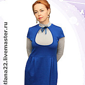 "Одежда handmade. Livemaster - original item Knit sundress ""Office"". Handmade."