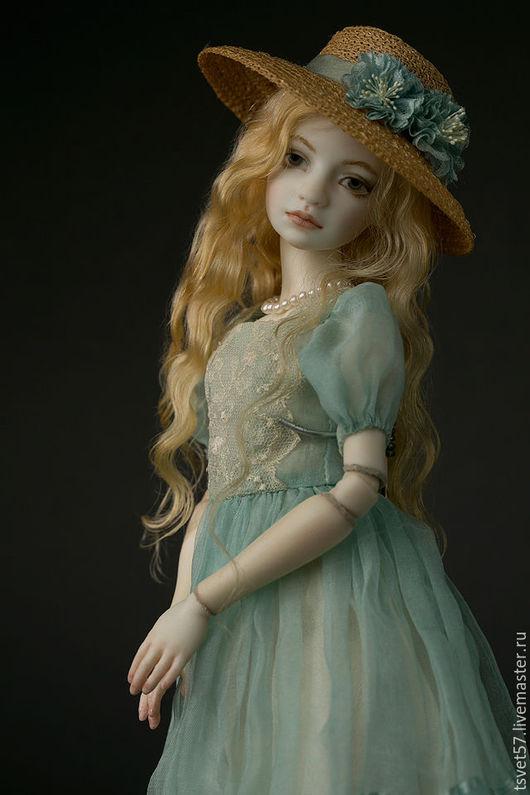 """Коллекционные куклы ручной работы. Ярмарка Мастеров - ручная работа. Купить Шарнирная фарфоровая кукла """"Girl in Blue"""". Handmade."""