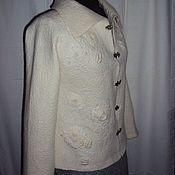 """Одежда ручной работы. Ярмарка Мастеров - ручная работа Жакет валяный """"Жемчужный"""". Handmade."""