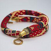 Украшения handmade. Livemaster - original item Harness Royal Red. Handmade.