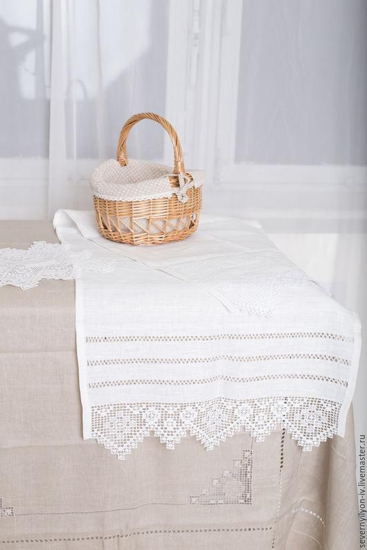 Быт ручной работы. Ярмарка Мастеров - ручная работа. Купить Рушник венчальный 100% лён. Handmade. Белый, серый цвет
