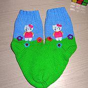 """Вязаные носочки  """" Hello Kitty"""""""