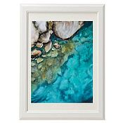 Картины и панно handmade. Livemaster - original item The watercolor at the Bottom of the sea. Handmade.