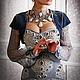 """Платья ручной работы. Ярмарка Мастеров - ручная работа. Купить Корсетное платье """"Королевская Охота"""". Handmade. Голубой, корсет утягивающий"""