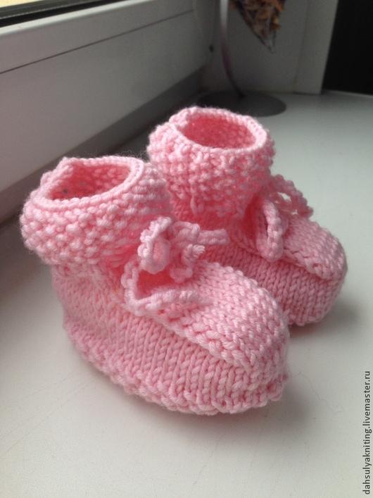 Детская обувь ручной работы. Ярмарка Мастеров - ручная работа. Купить Пинетки детские. Handmade. Розовый, пинетки для девочки