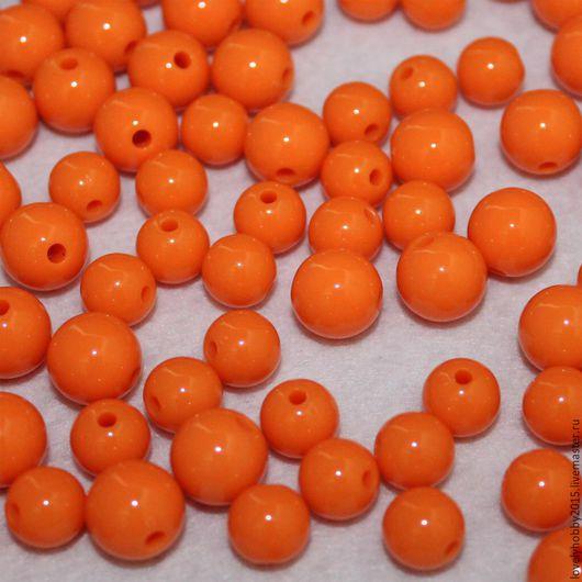 Матовые бусины. Оранжевый  Размер  10мм  8мм