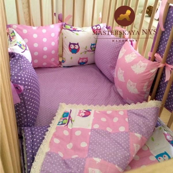 Как сшить подушечки бортики в кроватку своими руками