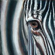 """Картины и панно ручной работы. Ярмарка Мастеров - ручная работа Картина пастелью """"Взгляд"""". Handmade."""