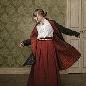 """Одежда ручной работы. Ярмарка Мастеров - ручная работа """"Черная лисица"""" жакет-сюртук, войлок. Handmade."""