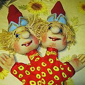 Куклы и игрушки handmade. Livemaster - original item The performance of TWO of the CASKET.A set of puppets.. Handmade.