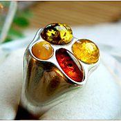 Украшения ручной работы. Ярмарка Мастеров - ручная работа Кольцо янтарь серебро. Handmade.