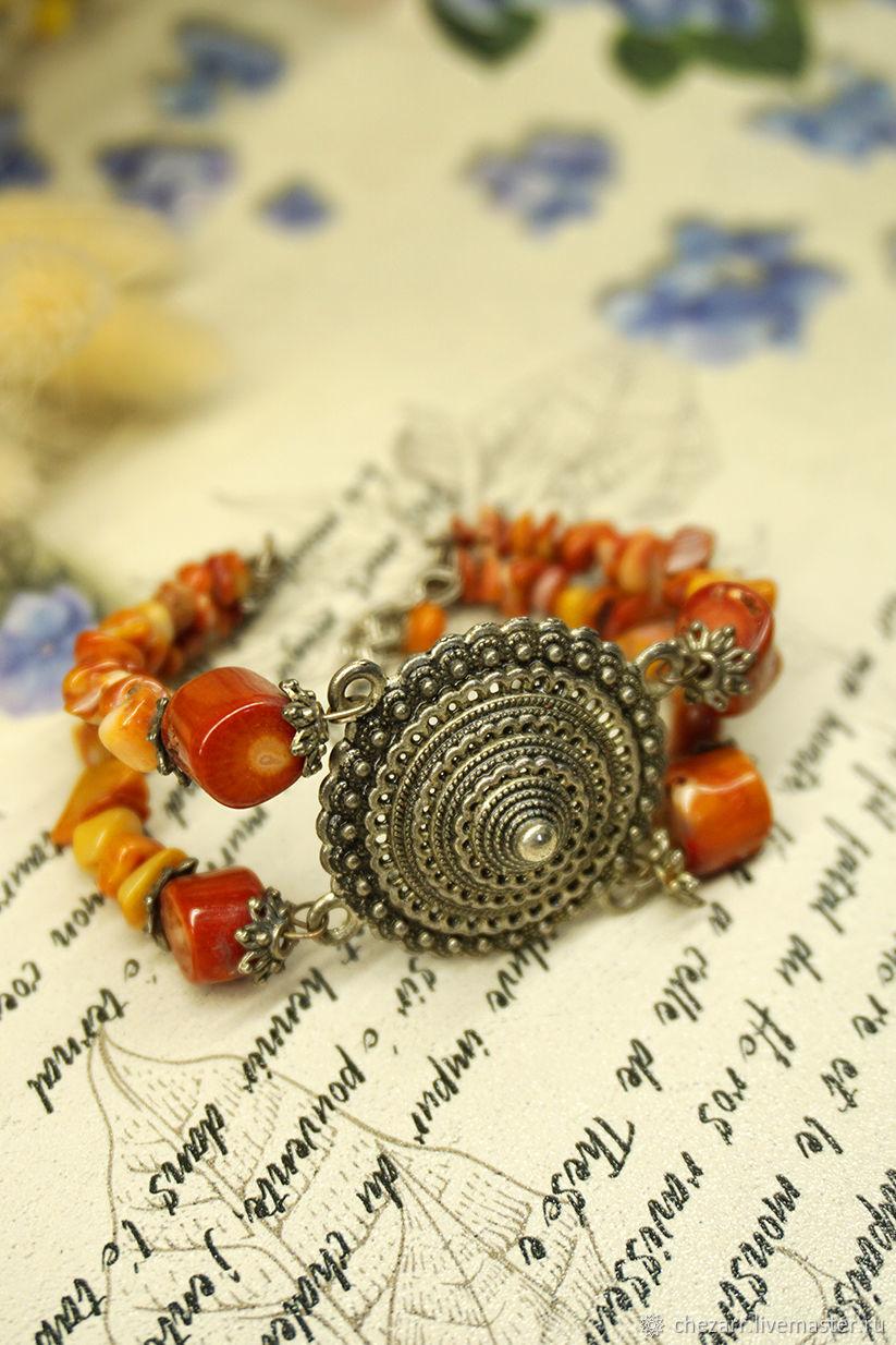 Coral bracelet 'Secrets of the East', Bead bracelet, Chelyabinsk,  Фото №1
