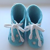 """Обувь ручной работы. Ярмарка Мастеров - ручная работа Пинетки валяные """"Нежность"""". Handmade."""