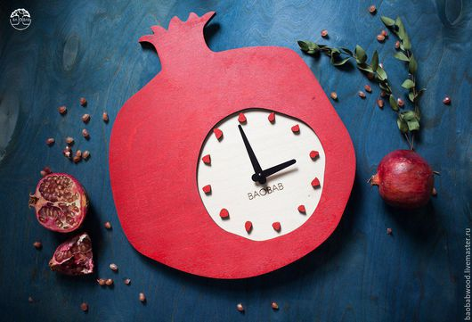"""Часы для дома ручной работы. Ярмарка Мастеров - ручная работа. Купить Настенные часы из дерева """"Granat"""". Handmade. Настенные часы"""