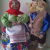 Куклы и игрушки ручной работы. Ярмарка Мастеров - ручная работа Крупеничка и Богач - обрядовые куклы. Handmade.