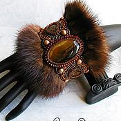 Украшения handmade. Livemaster - original item Bracelet with fur