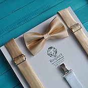 Аксессуары handmade. Livemaster - original item Gold tie gold suspenders for wedding in gold color. Handmade.