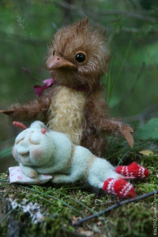 Мишки Тедди ручной работы. Ярмарка Мастеров - ручная работа. Купить Немного о полосатых носочках..... Handmade. Коричневый