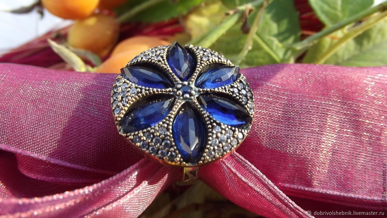 Vintage ring 'Anemone' silver, Vintage ring, Novaya Usman,  Фото №1