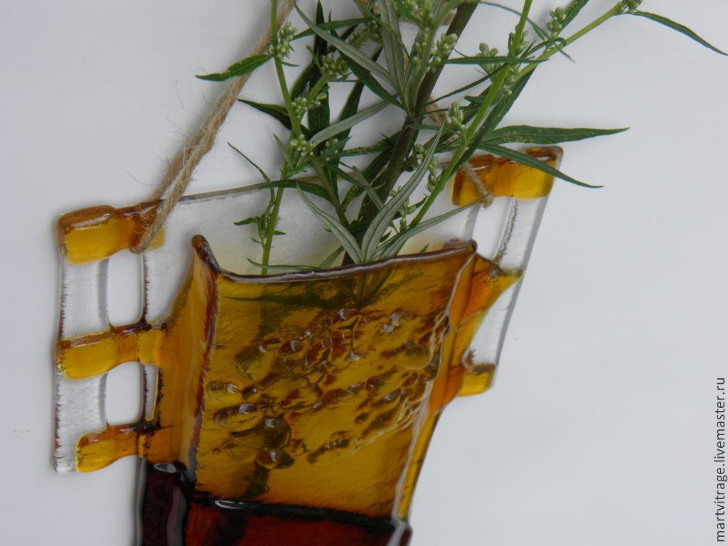 фьюзинг настенные стеклянные вазы для цветов
