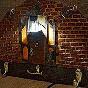 """Для дома и интерьера ручной работы. Ярмарка Мастеров - ручная работа Ключница- светильник  """"Здесь тебя ждут"""". Handmade."""