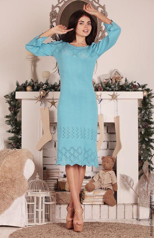 """Платья ручной работы. Ярмарка Мастеров - ручная работа. Купить Платье """" Голубой топаз"""". Handmade. Голубой"""