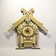"""Часы для дома ручной работы. Ярмарка Мастеров - ручная работа. Купить Часы настенные """"Избушка Бабы Яги"""". Handmade. Бежевый"""