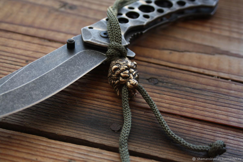 Lion lanyard bead, Souvenir weapon, Volgograd,  Фото №1