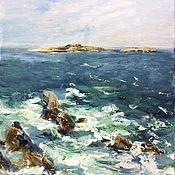 Картины и панно handmade. Livemaster - original item Oil painting seascape wave of impressionism. Handmade.