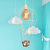 Для дома и интерьера handmade. Livemaster - original item Children`s room lamp, balloon with stained glass basket. Handmade.