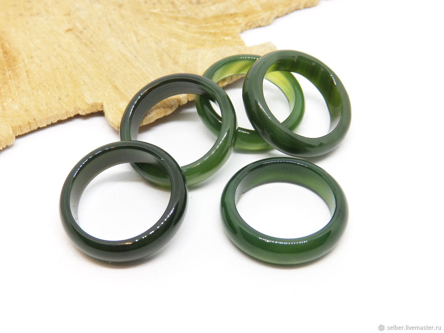 Stone ring green chalcedony Forest grass 18 R-R, Rings, Gatchina,  Фото №1