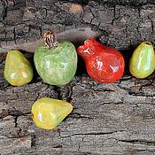 "Материалы для творчества handmade. Livemaster - original item Ceramic Bead Set ""Fruit"". Handmade."