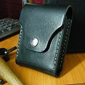 Сумки и аксессуары handmade. Livemaster - original item Leather cigarette case-cardholder. Handmade.