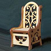 Материалы для творчества ручной работы. Ярмарка Мастеров - ручная работа Резной стул из фанеры - кукольная мебель. Handmade.