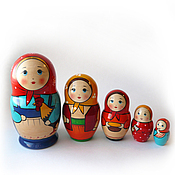 Русский стиль handmade. Livemaster - original item Local 5 matryoshka
