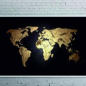 Картины ручной работы. Ярмарка Мастеров - ручная работа Карта мира. Handmade.